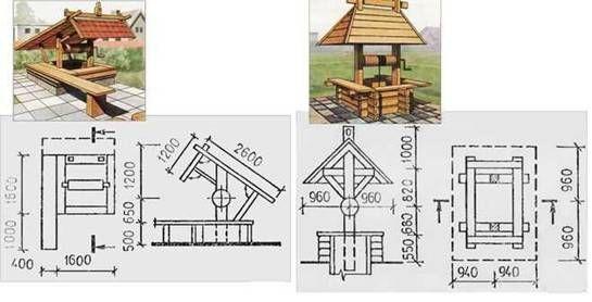 чертеж открытого домика