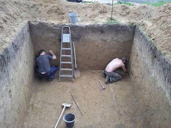 котлован для погреба
