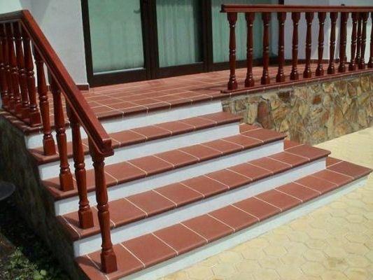 клинкерная плитка на ступенях