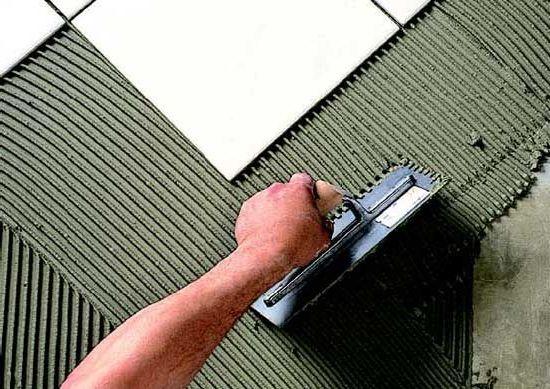 большой угол уклона при укладке плитки