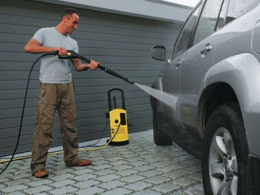 удобно мыть автомобиль