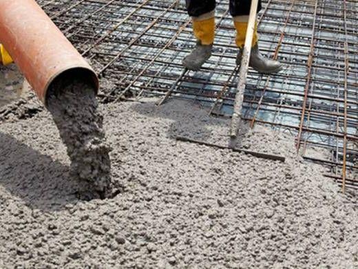заливание бетоном